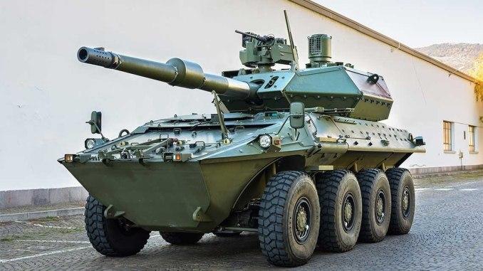 """دبابة Centauro II - من إنتاج كونسورتيوم الشركتين الإيطاليتين الإيطالية """"ليوناردو"""" (Leonardo) و""""إيفيكو"""" (Iveco)"""