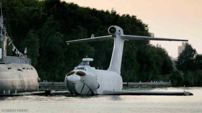 """طائرة """"إيركانو"""" الروسية التي تشبه طائرة البحر بشكل كبير، وتكمن ميزتها في القدرة على التحليق على علو منخفض وقطع المسافة بصورة أسرع مقارنة بالسفن (Business Insider)"""
