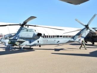 مروحية من طراز AH-1Zمن إنتاج شركة Bell خلال معرض مراكش الدولي للطيران 2018