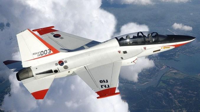 """طائرة """"تي-50"""" المقاتلة الكورية الجنوبية (شركة لوكهيد مارتن)"""