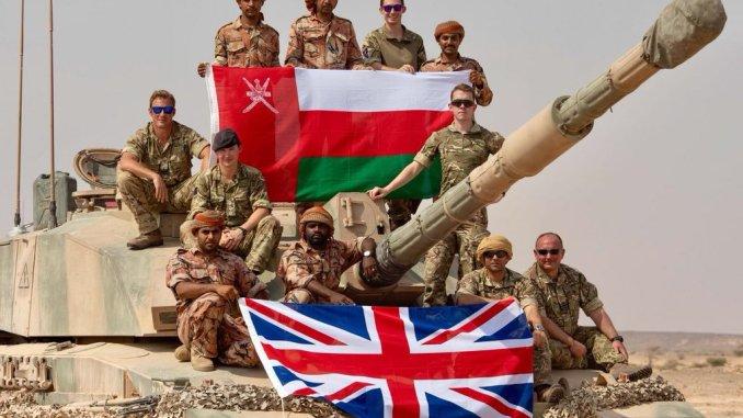 عناصر من القوات المسلحة البريطانية والعمانية (صورة أرشيفية)