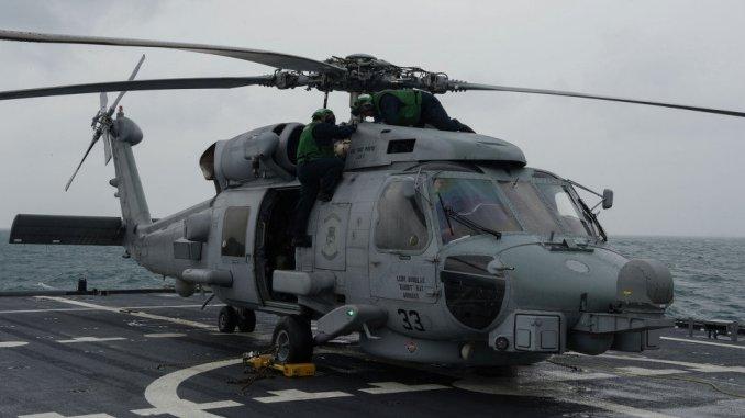 مروحية عسكرية من طراز MH-60R (صورة أرشيفية)
