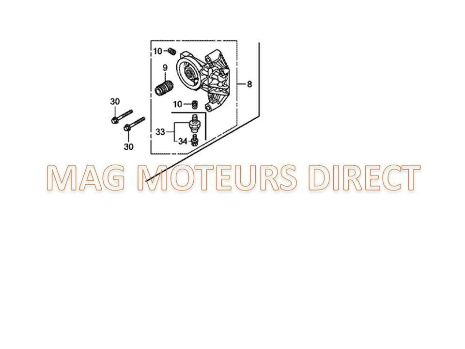 ECHAPPEMENT HONDA GX630 GX660 GX690 sortie COTE avec