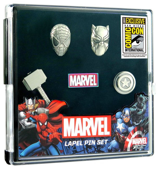Nerdeek Life 68065-Marvel-Pin-Set Monogram International: SDCC 2017 Exclusives Anime Books Conventions Gaming Horror Sci-fi