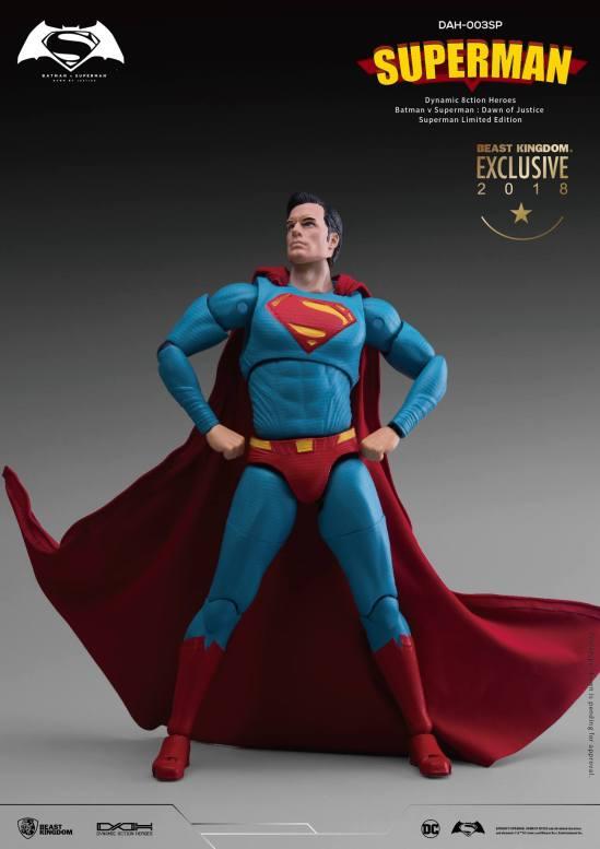 "Beast Kingdom Dynamic 8ction Heroes DAH-003SP ""Batman v Superman: Dawn of Justice"" Superman Comic Color Version"
