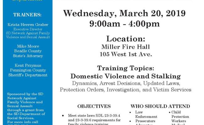 Free Law Enforcement Training On Domestic Violence Crimes