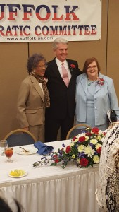 Jean Copeland, Ronald Williams, and Beverly Outlaw standing together