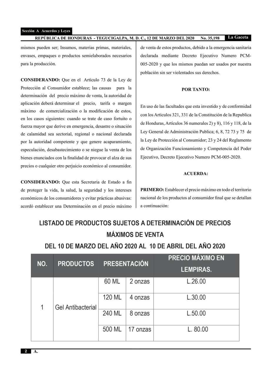 12 DE MARZO 2020, 35,198 2-2
