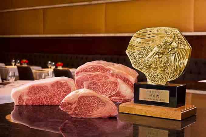 美国共有10家餐厅供应日本进口的神户牛肉Kobe beef,图为拉斯维加斯Wynn SW餐厅的神户牛认证。