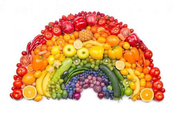 蔬果颜色愈深,其抗氧化剂含量愈高;摄取各类蔬果能为健康加分。(Fotolia)