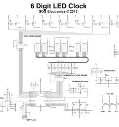 full 6 digit clock schematic [ 6331 x 4531 Pixel ]
