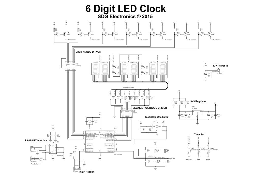 medium resolution of full 6 digit clock schematic