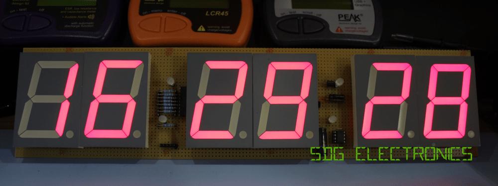 medium resolution of 6 digit led clock