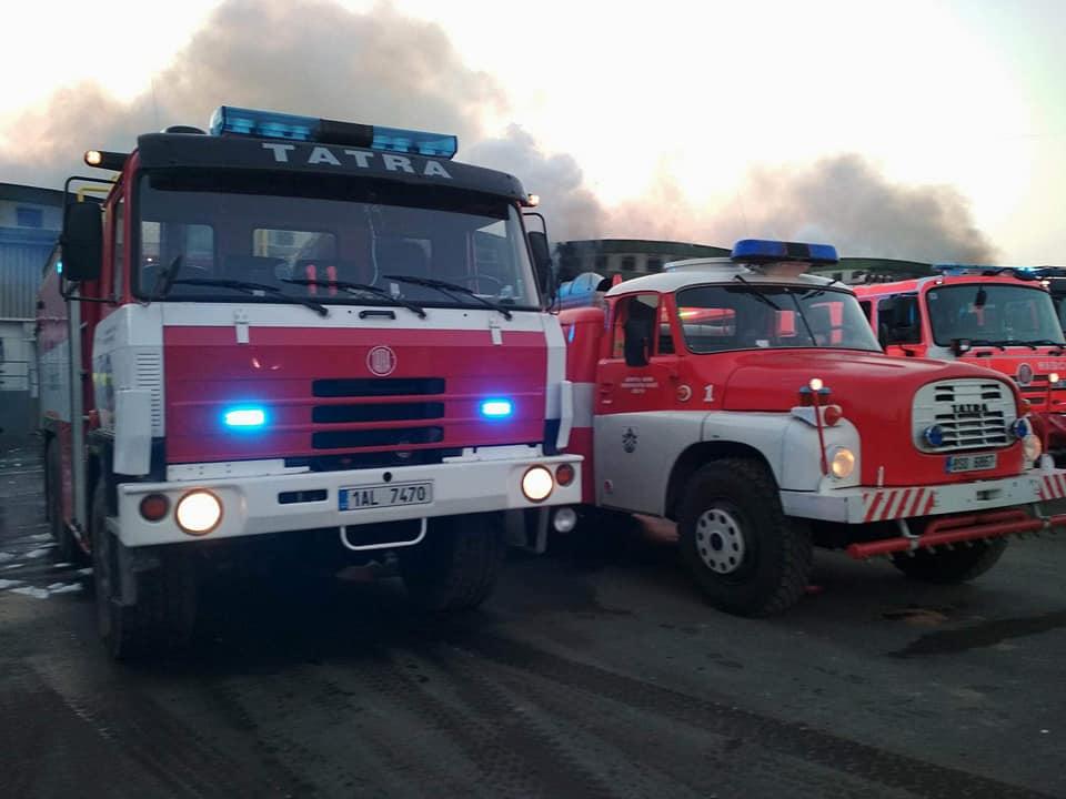 Požár průmyslové haly
