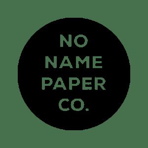 NoNamePaperCo logo on transparent background.
