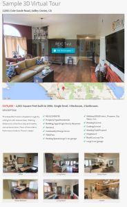 Matterport 3D Virtual Reality Landing Page