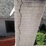 Cracked Pre-cast Chimney - Click to enlarge