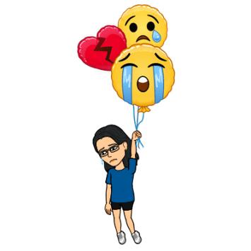 sad emoji balloons