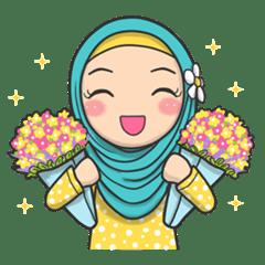 Flower Hijab 2  Creators Stickers