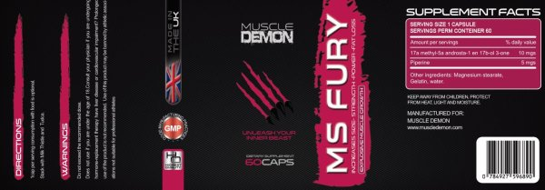 MS Fury - Methylstenbolone Prescription