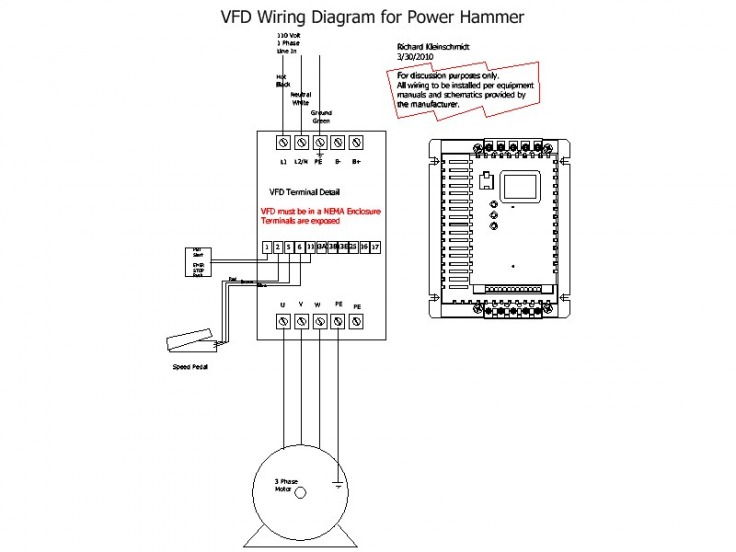 wiring diagram for a contactor
