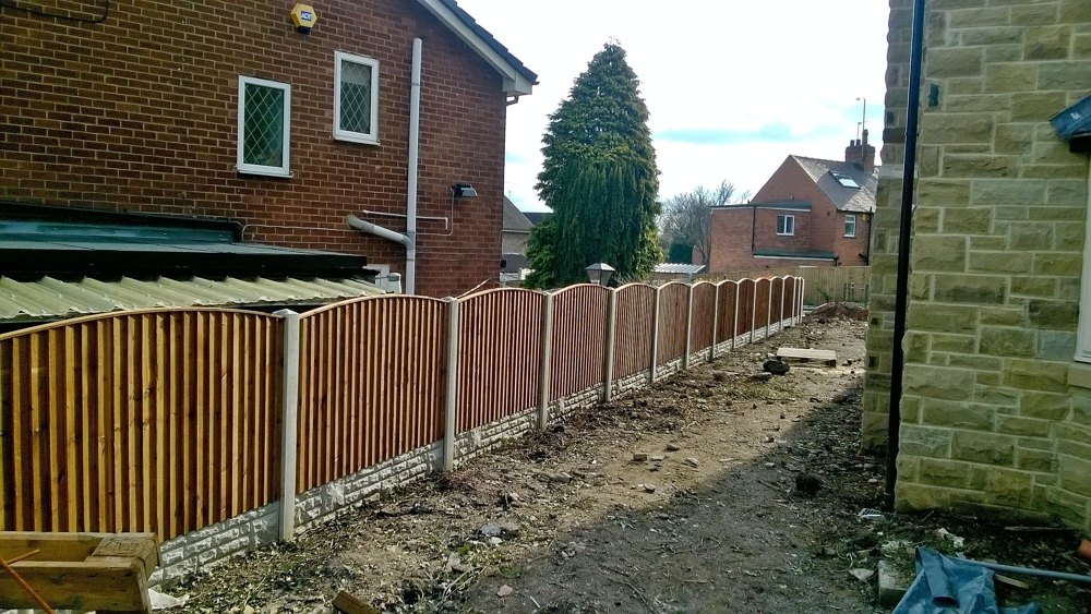 Panel and concrete post fencing sheffield