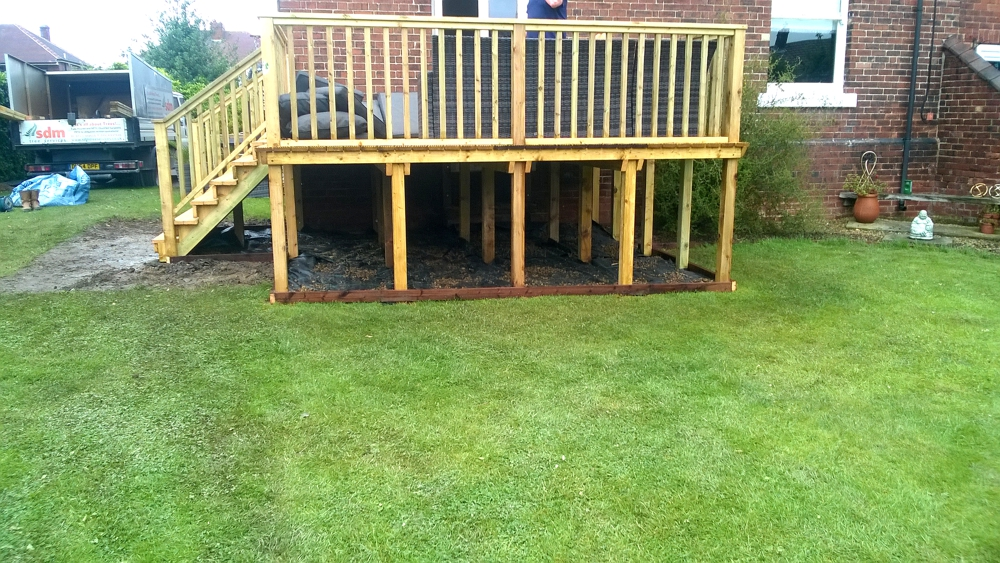 Stilted decking wakefield