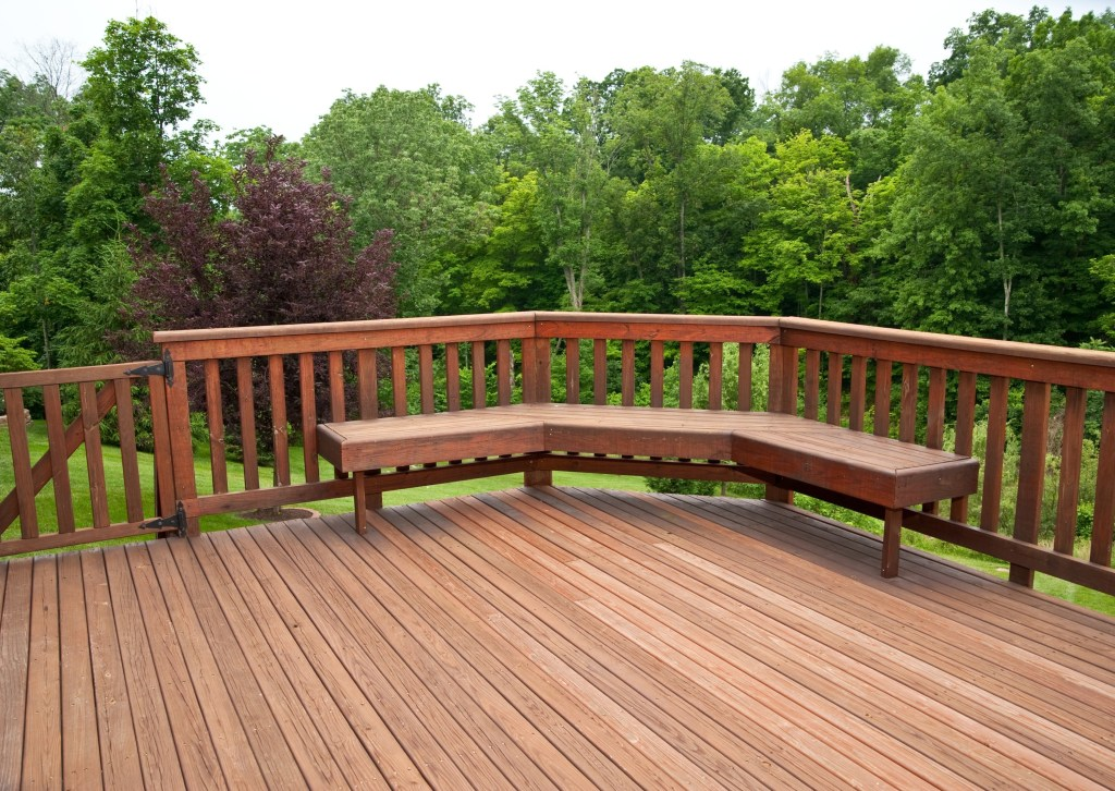 Decking with balustrade