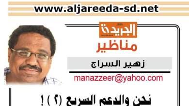 زهير السراج يكتب: نحن والدعم السريع (2 ) !