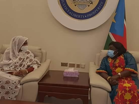 وزير الخارجية تلتقي سلفاكير ميارديت رئيس جنوب السودان