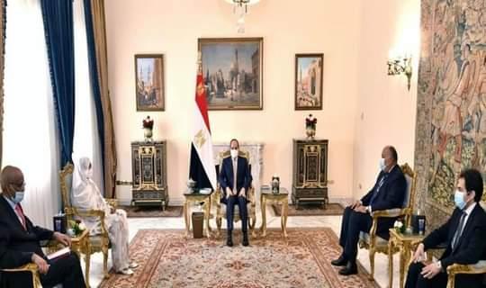 عبد الفتاح السيسي يستقبل وزيرة الخارجية
