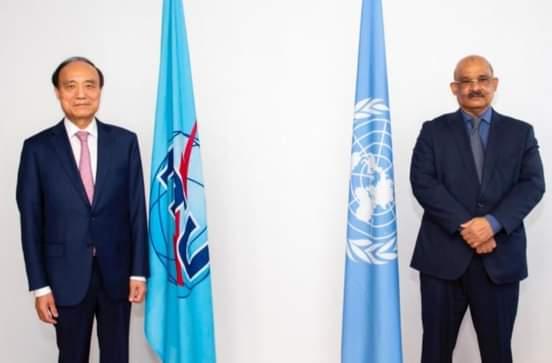 السفير ابو طالب يلتقي الأمين العام للاتحاد الدولي للاتصالات