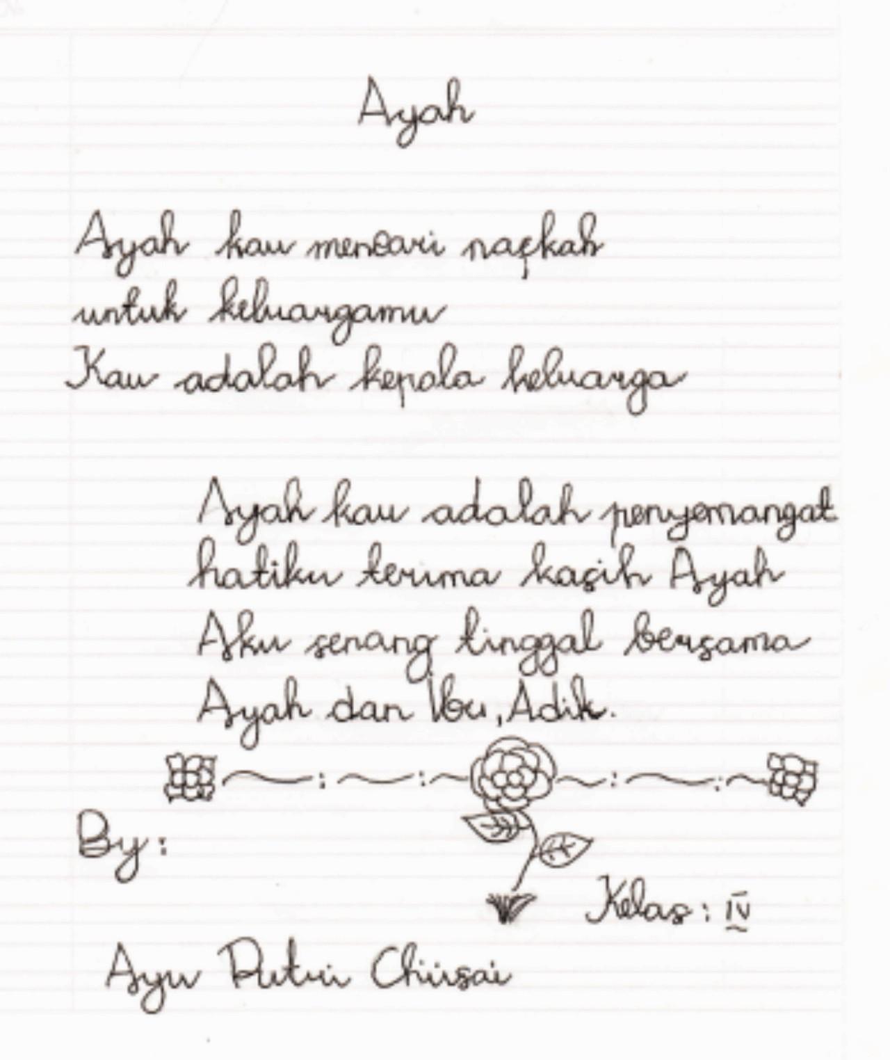 Puisi-puisi Karya Siswa SDN Pangkah 04 « sdnpangkah04