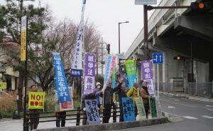 比叡山坂本駅前交差点で
