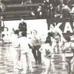 1981-82 XI Torneo Patronato. Iñaki Iriarte retirando al Baskonia del Torneo