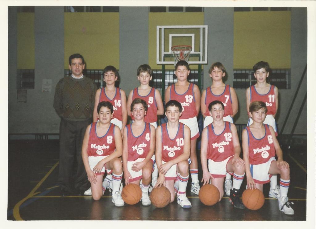 91-92 Maristas mini campeón liga, Euskadi y PIN