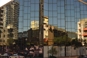 AS SHOT: City Reflection Abstract