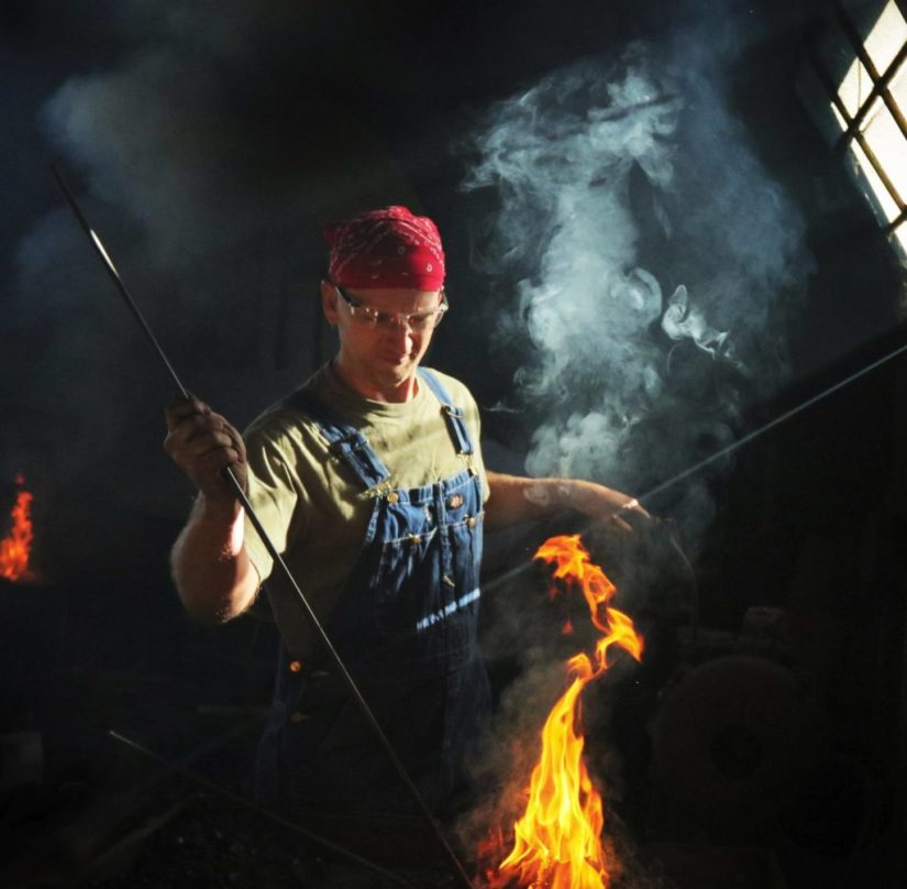 Blacksmith at the Antique Gas & Steam Engine Museum, Vista