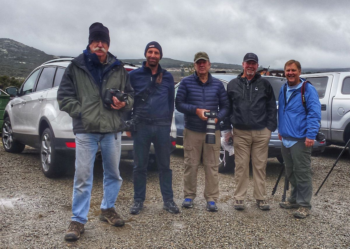 The heroic five who braved the elements for our visit to the Motor Transport Museum in Campo, March 2018.