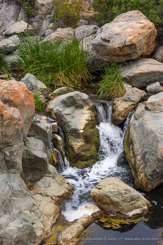 The Waterfall at Penasquitos Canyon Preserve, San Diego, California. July 2012.