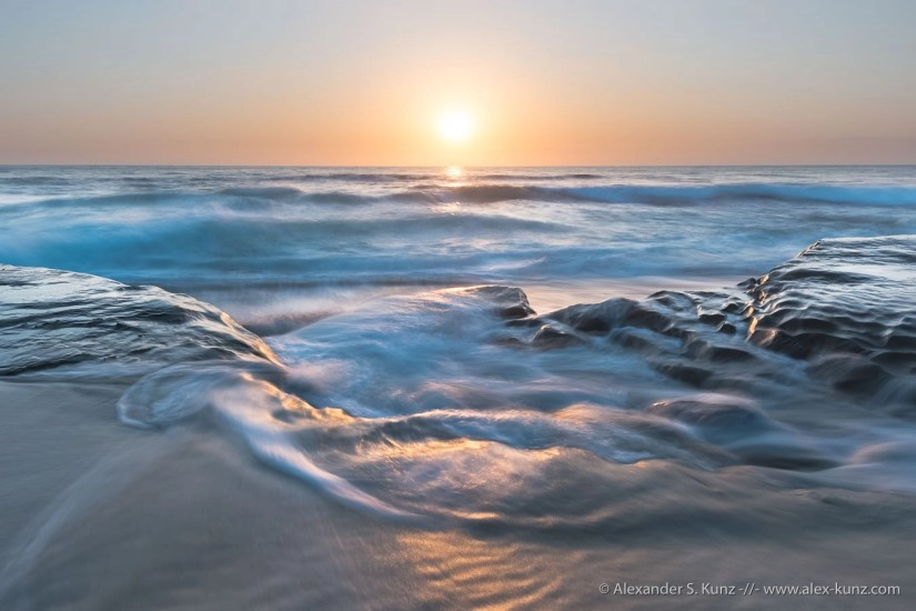"""""""Tide Dynamics, La Jolla"""" — this photo was developed solely using local adjustments. No global adjustments have been applied, at all."""