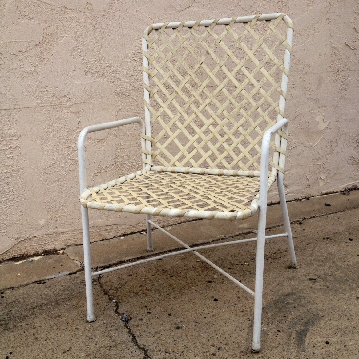 patio chair replacement vinyl straps white plastic chairs strapping  quality interiors