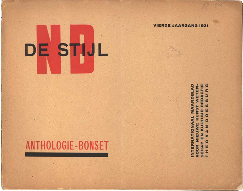 De Stijl Typography Poster And Book Design