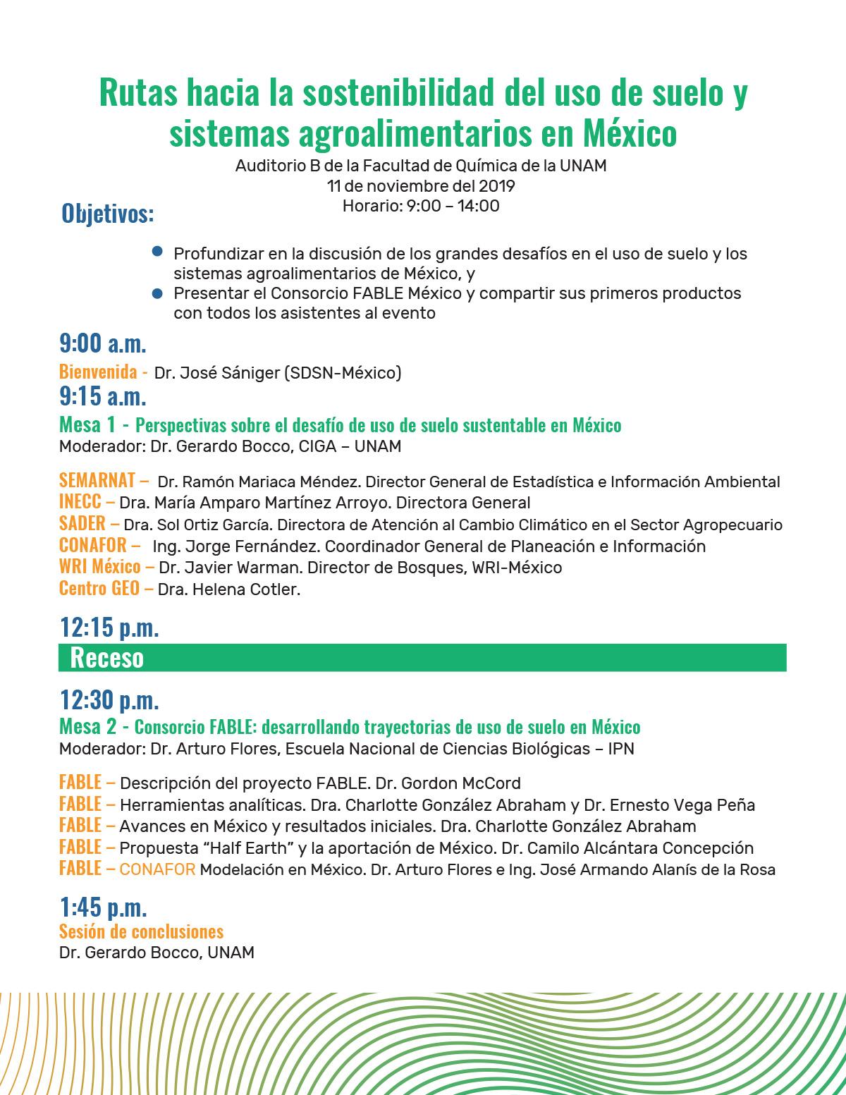 Agenda Fable, SDSN México