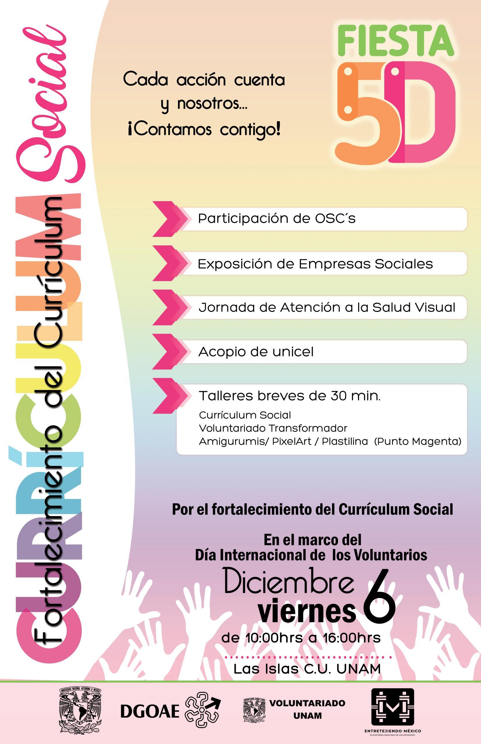 """Fiesta 5D 2019: """"Fortalecimiento del Currículum Social"""""""