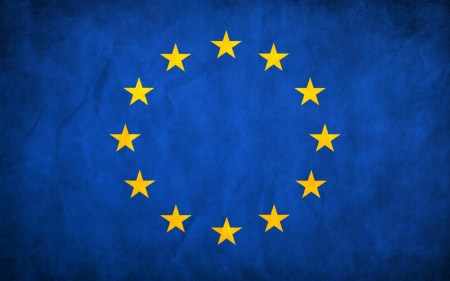 European Union Grunge Flag