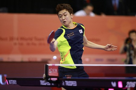 Jeoung Youngsik - photo by the ITTF
