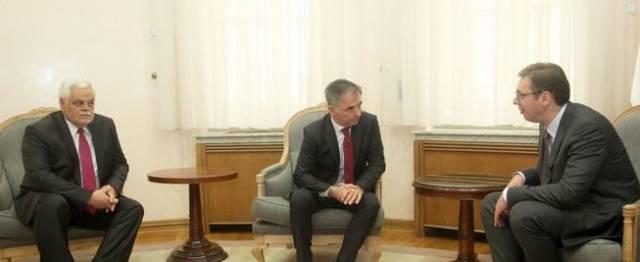 Predsednik Stanimirović i potpredsednik Pupovac na sastanku sa premijerom Srbije Vučićem