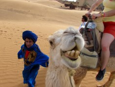 Our tour guide and a smiling camel. Enough said!