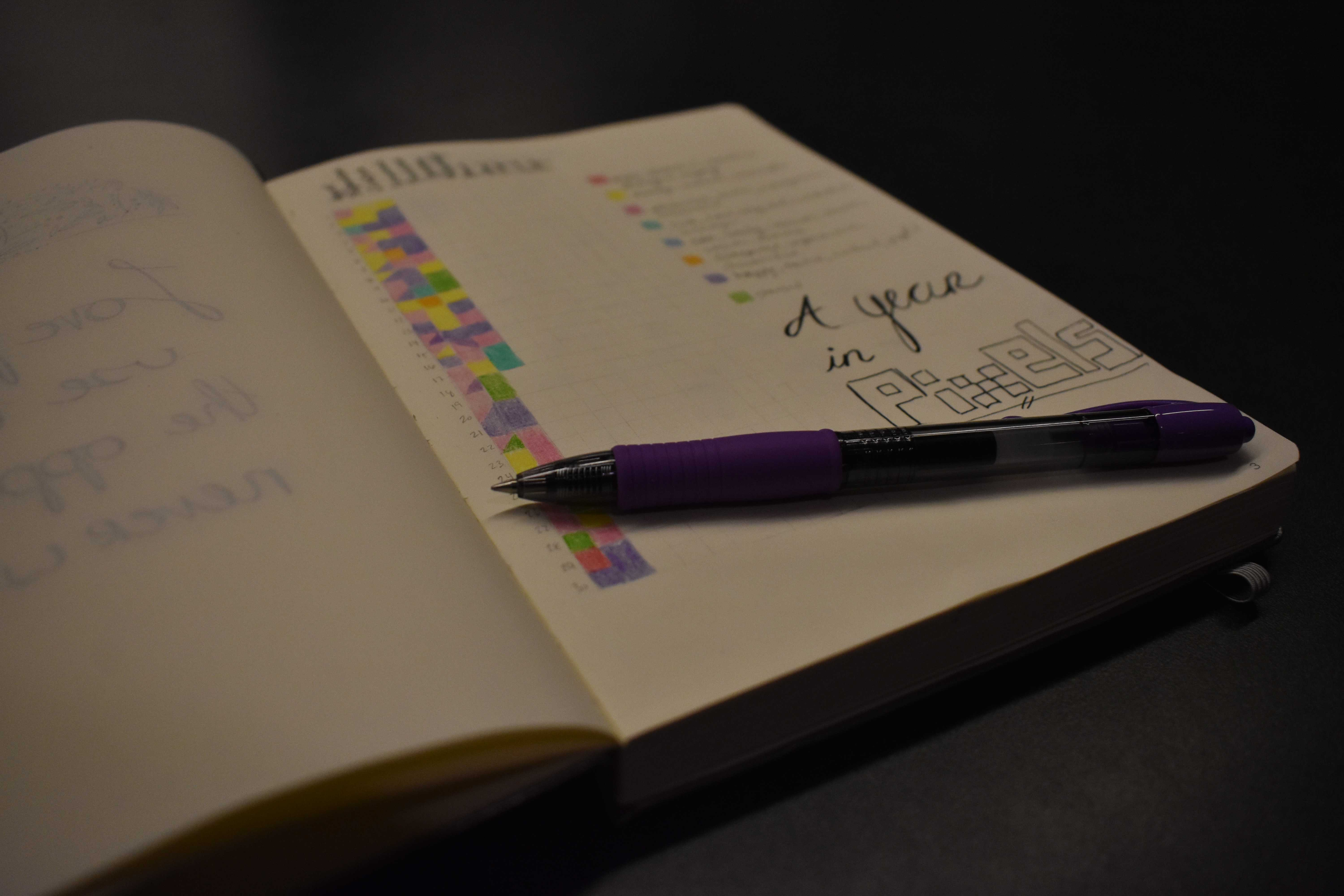 ABBY FULLENKAMP Bullet journals often incorporate habit trackers, which can be color-coded by mood. All you need to bullet journal is a notebook and a pen.